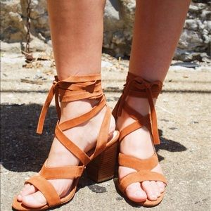Sole Society Suede Lace Up Sandal's